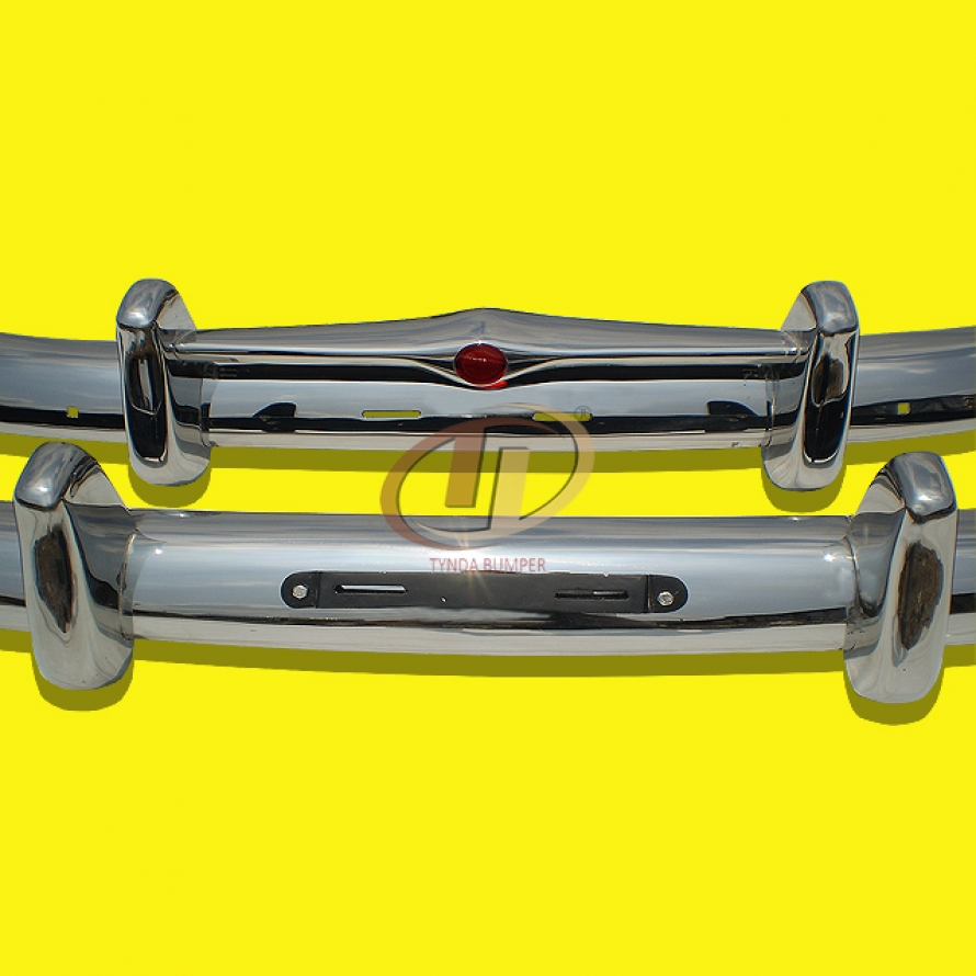 Volvo PV 444 1947-1958 stainless steel bumpers front and rear polished